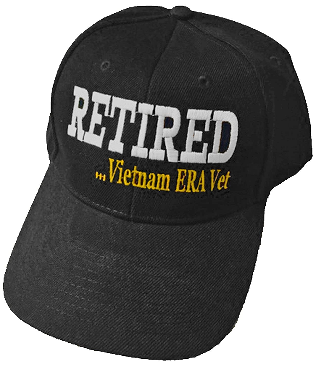 Vietnam ERA Vet Cap Retired Military Hat and Bumper Sticker at Amazon Men s  Clothing store  a0512a259e7