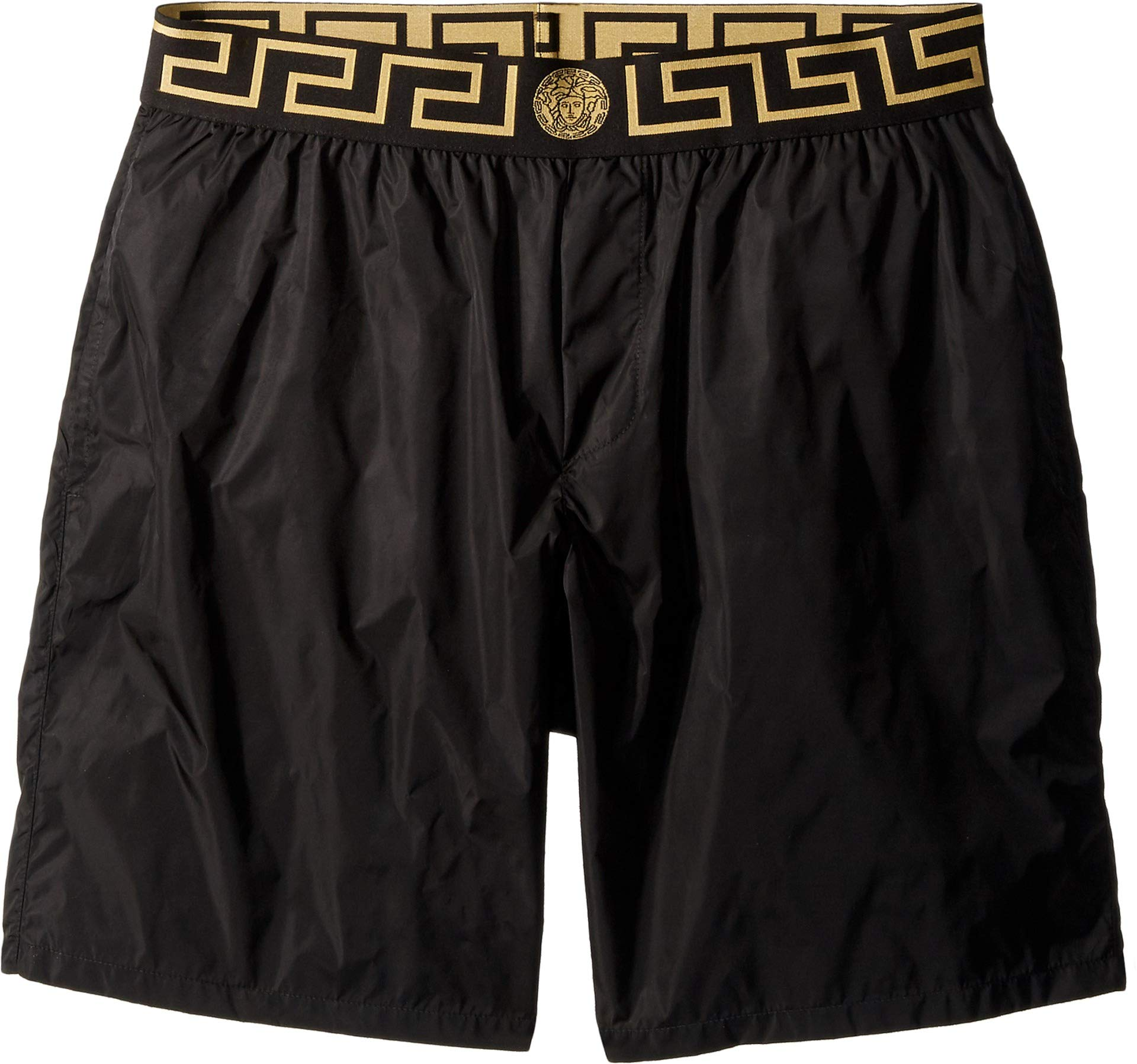 Versace Men's Beach Long Short Boxer Black/Gold/Greek Key 5