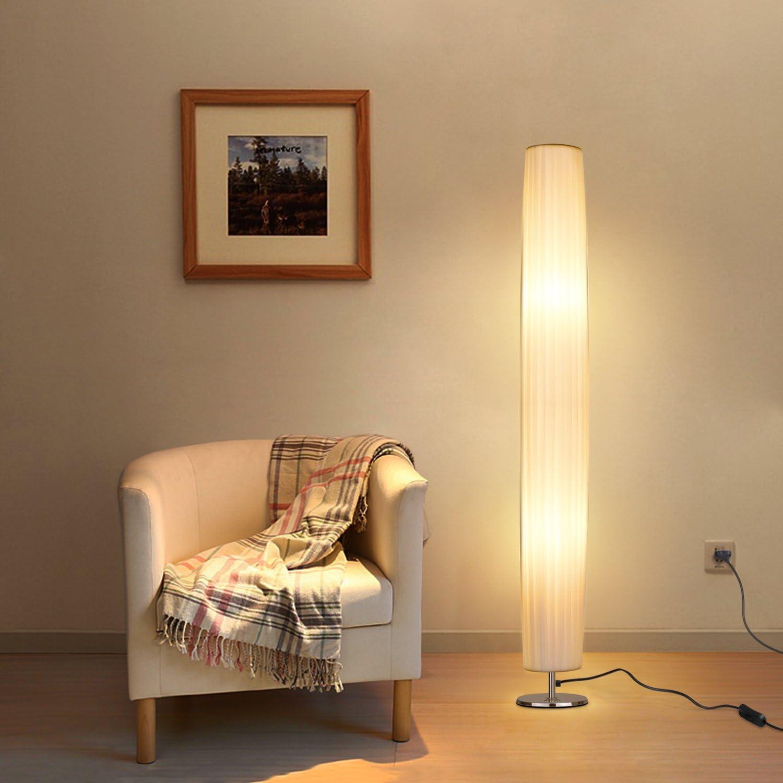 Albrillo Moderne Led Stehlampe Mit Stoff Lampenschirm Und