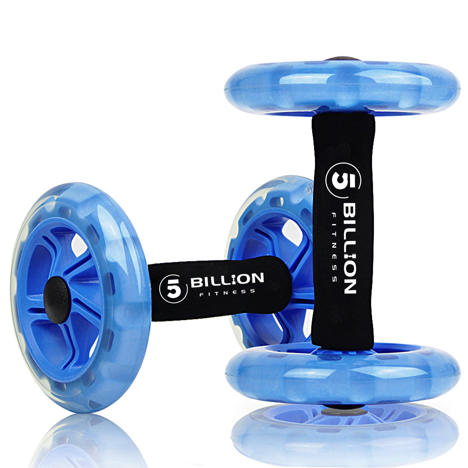 5BILLION Ab wheel Roller & Rueda Abdominal - Double Ab wheel - Entrenamiento para Abs,
