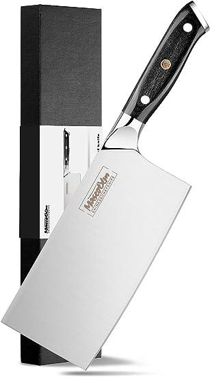 Klinge: 17,5 cm Allzweckmesser Hackmesser Chinesisches Kochmesser  Edelstahl