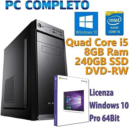 PC Ordenador de sobremesa Fijo Nuevo con Windows 10 Pro; Intel ...