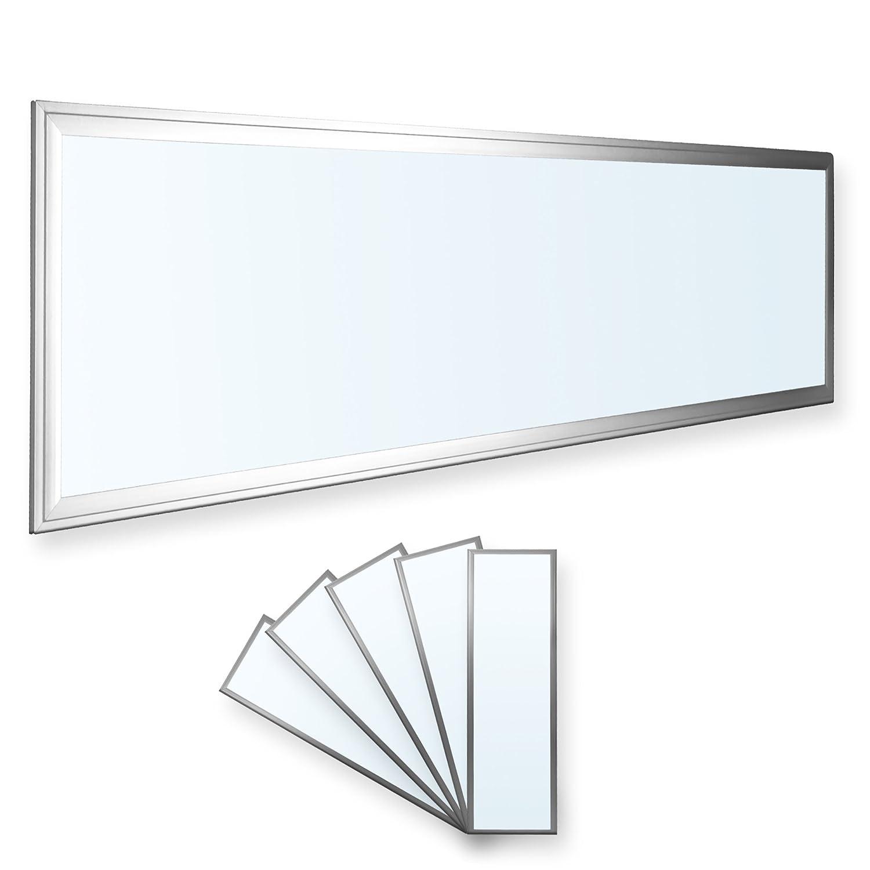 LEDVero 1er Set 120x30cm Ultraslim LED Panel 36W, 3000lm, 3000lm, 3000lm, 4500K Deckenleuchte mit Befestigungsclips und EMV2016 Trafo -Neutralweiß- Energieklasse A+ 7ff207