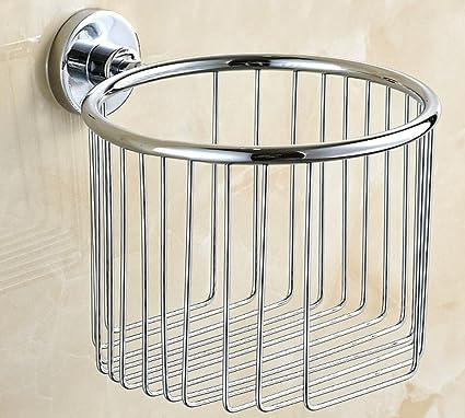 Accesorios de baño porta-rollos de toalla de acero inoxidable de plata, 2