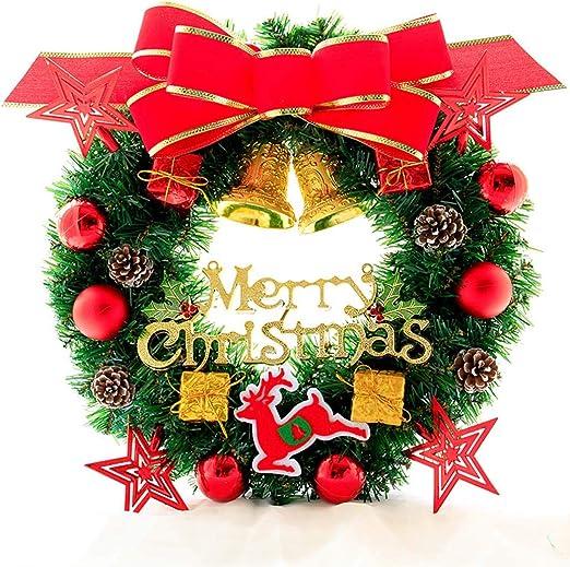 Medium Artificial Pine Wreath for Christmas Crafts 30cm Wide