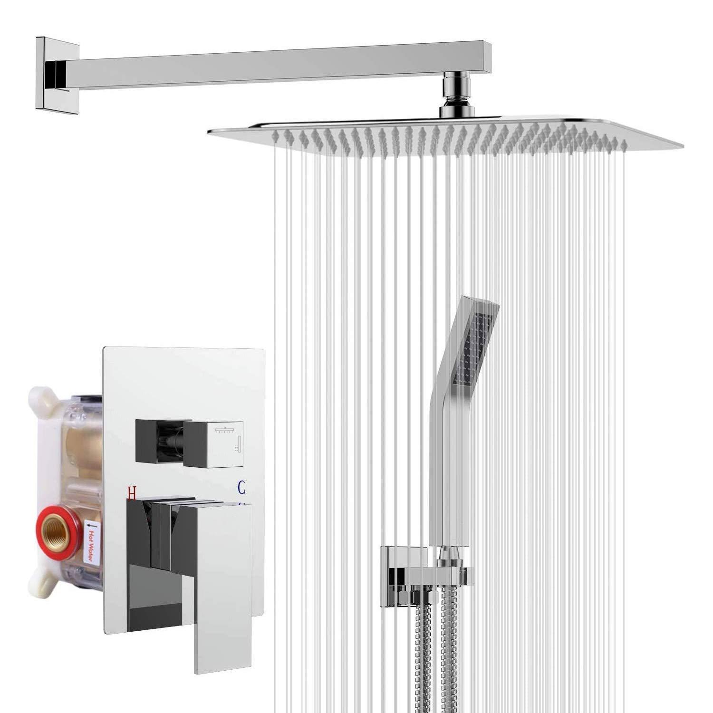 Rainsworth Concealed Shower Set, Bathroom Luxury Rain Mixer Shower ...