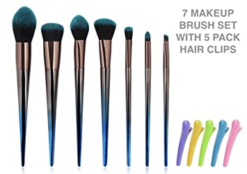 fd84f98aef3 Amazon.com: LSY Makeup Brushes Set, 7pcs Diamond Shaped Foundation Makeup  Brush Powder Blush Eyeshadow Contour Eyebrow Concealer Blush Set With  5-Packs ...