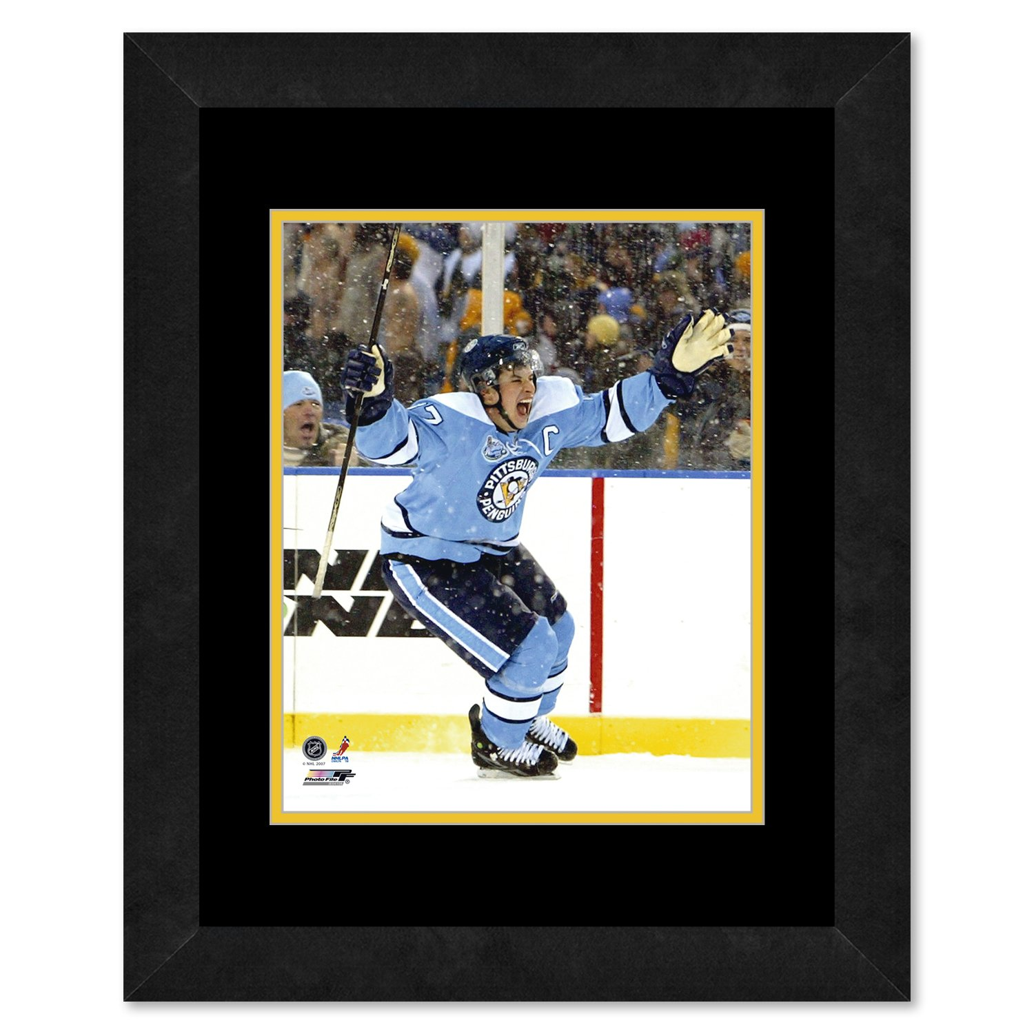 Photo File NHL Pittsburgh Penguins Sidney Crosby Team Color Framed Mats, Black, 13 x 16-Inch by Photo File