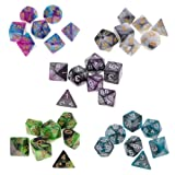 MagiDeal 35PCS Two-Colors Polyhedral Dice 16mm for Dungeons and Dragons DND RPG MTG Games