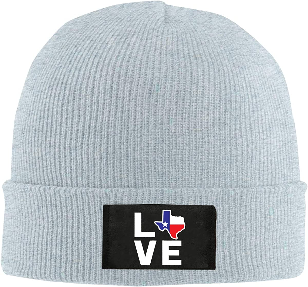 Unisex Love Texas Map Knitting Hat 100/% Acrylic Fashion Skiing Cap