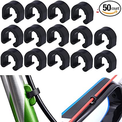 4Pcs Road Mountain Bike Bicycle Cable Clamps for Brake Shifter Cable Housing