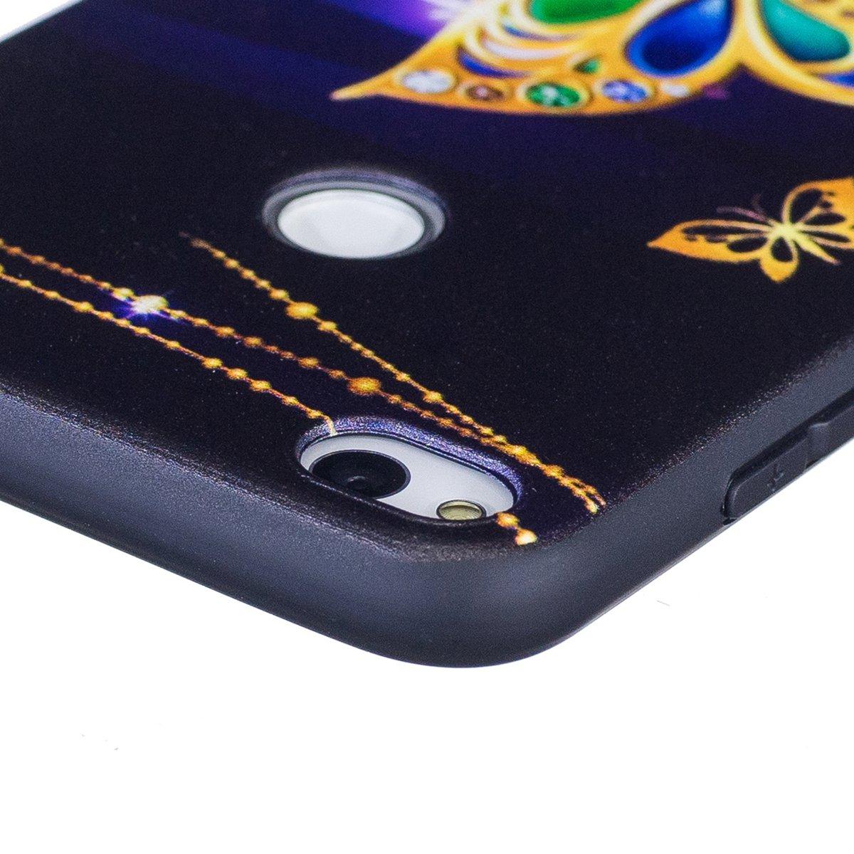 Glitter Farfalle ISAKEN Compatibile con Huawei P8 Lite 2017 ...