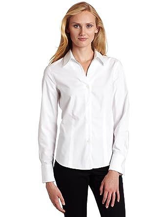 4635ebd1ce Amazon.com  Jones New York Women s Long Sleeve No-Iron Easy Care ...