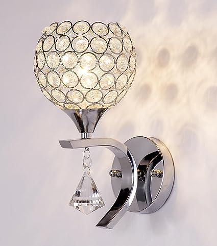Modern Glass Wall Light Sconce Lighting LED Crystal Lamp Fixture Bedroom Decor