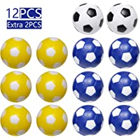 "GAO Foosball Balls 1-7/16"" (36mm) 12 Pack Regulation Size Table Soccer Ball Replacement, Multicolor"