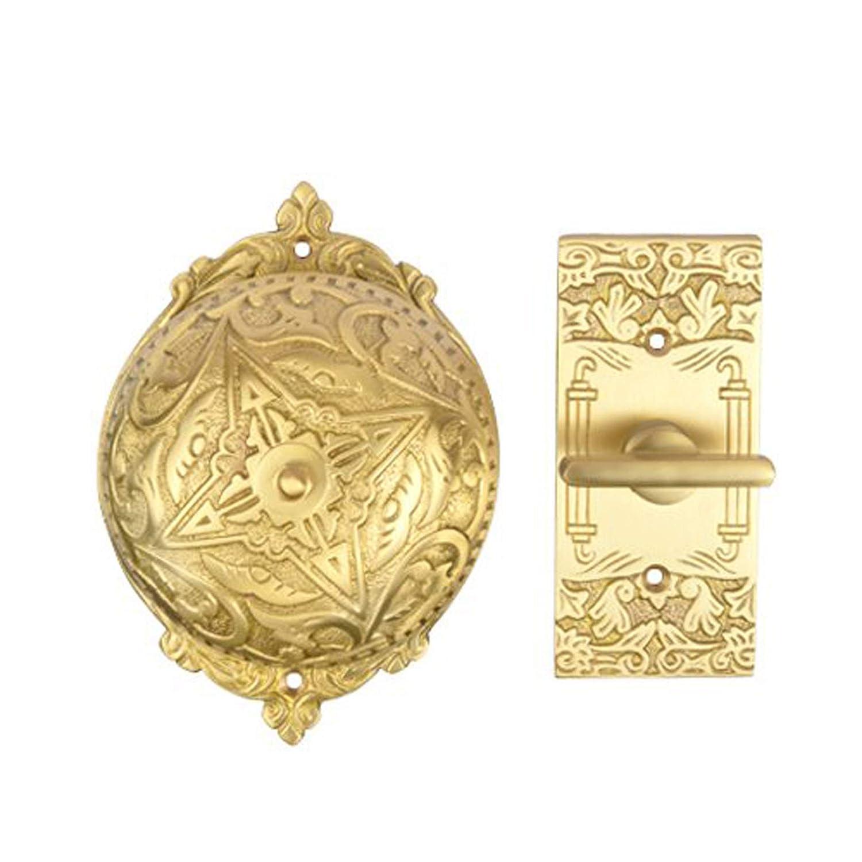 Antique Copper Adonai Hardware Belshazzar Brass Manual Old Fashion Door Bell or Twist Door Bell or Hand-Turn Door Bell