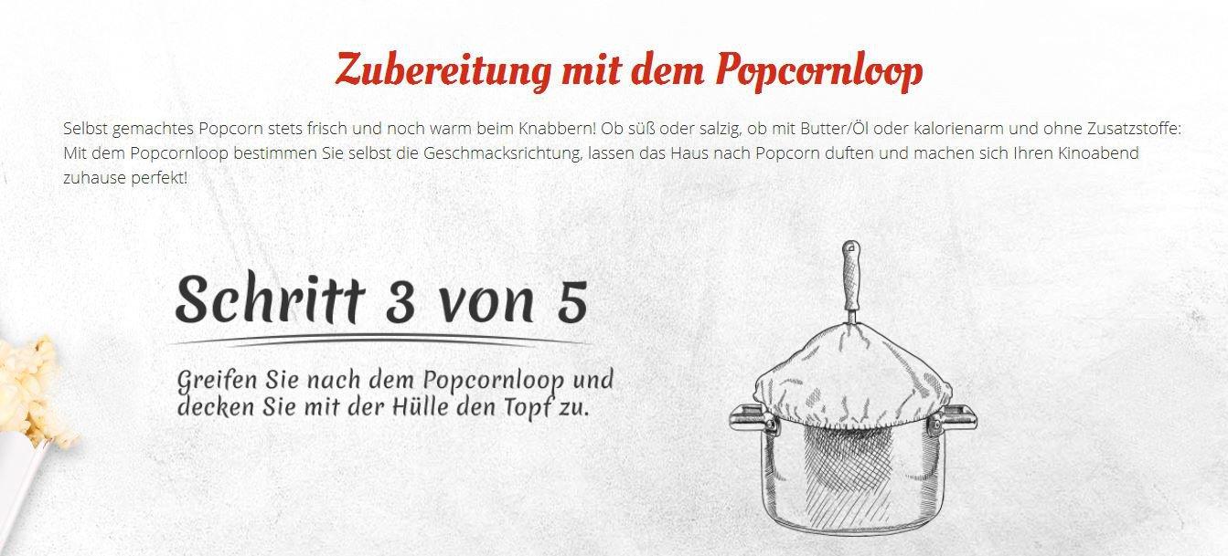 Amazon.de: Popcornloop Heimkino-Set bestehend aus 1x Popcornloop ...