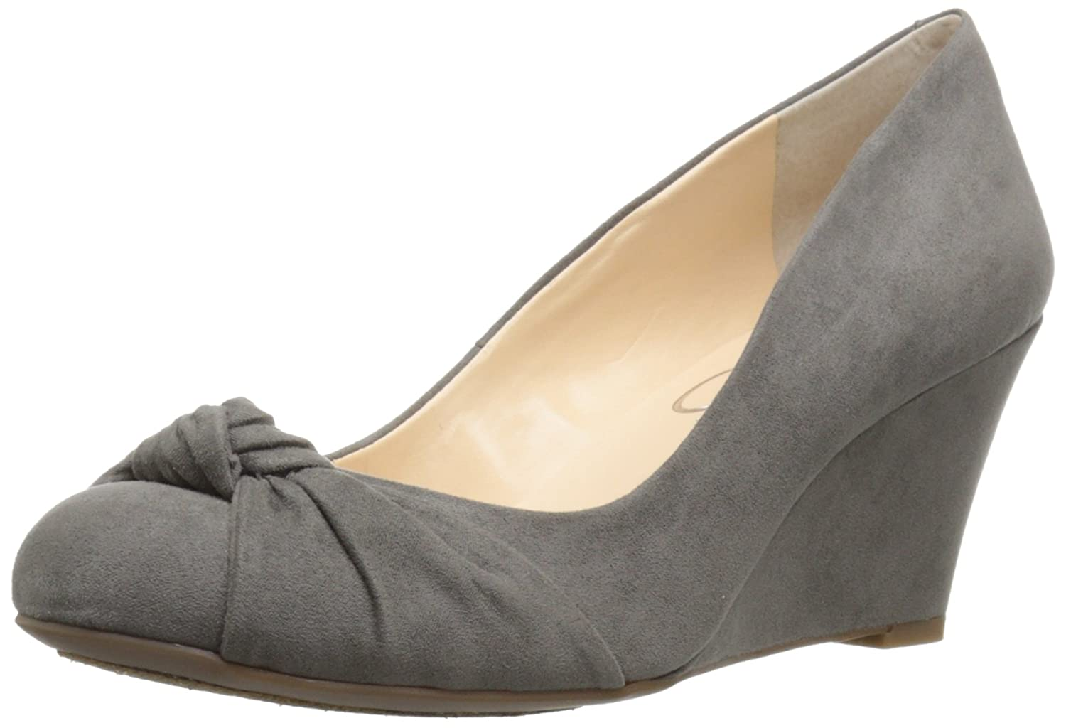 Jessica Simpson Women's Siennah Wedge Pump B01GJ9V8U6 8 B(M) US|Gnocchi Grey