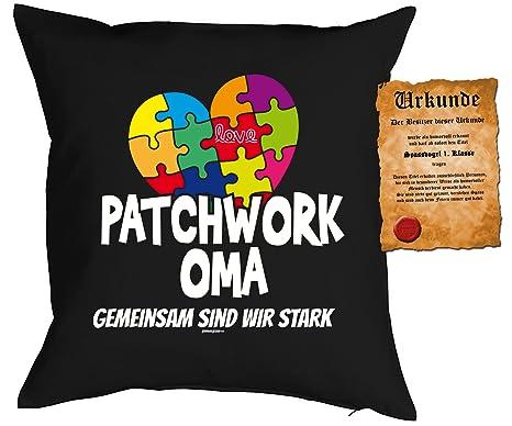Manta Cojín de abuela Sprüche - Abuela regalo: Patchwork ...