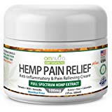 Organic Pain Relieving Cream with 100mg Full Spectrum Hemp Extract for Nerve Damage Rheumatoid Arthritis Relief Back Neck Knee Joint Muscle Repair Cannabis Sativa Oil ARNICA TURMERIC MSM BOSWELLIA 2oz