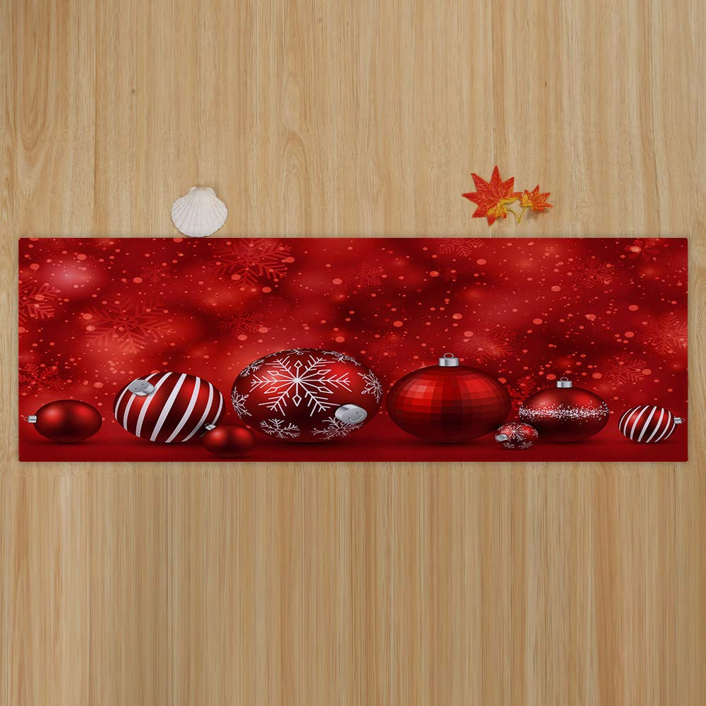 HHmei Merry Christmas Welcome Doormats Indoor Home Carpets Decor 40x120CM Decorations Outdoor Tree Table Lights Blue Home Set Silver Wall Ornaments Place Card Holders 54A Xma_Decor_Oct32_166