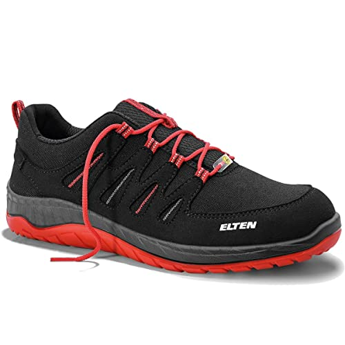 Elten wellmaxx 729561 Maddox Black de Red Low ESD S3 – Botas de Seguridad S3,