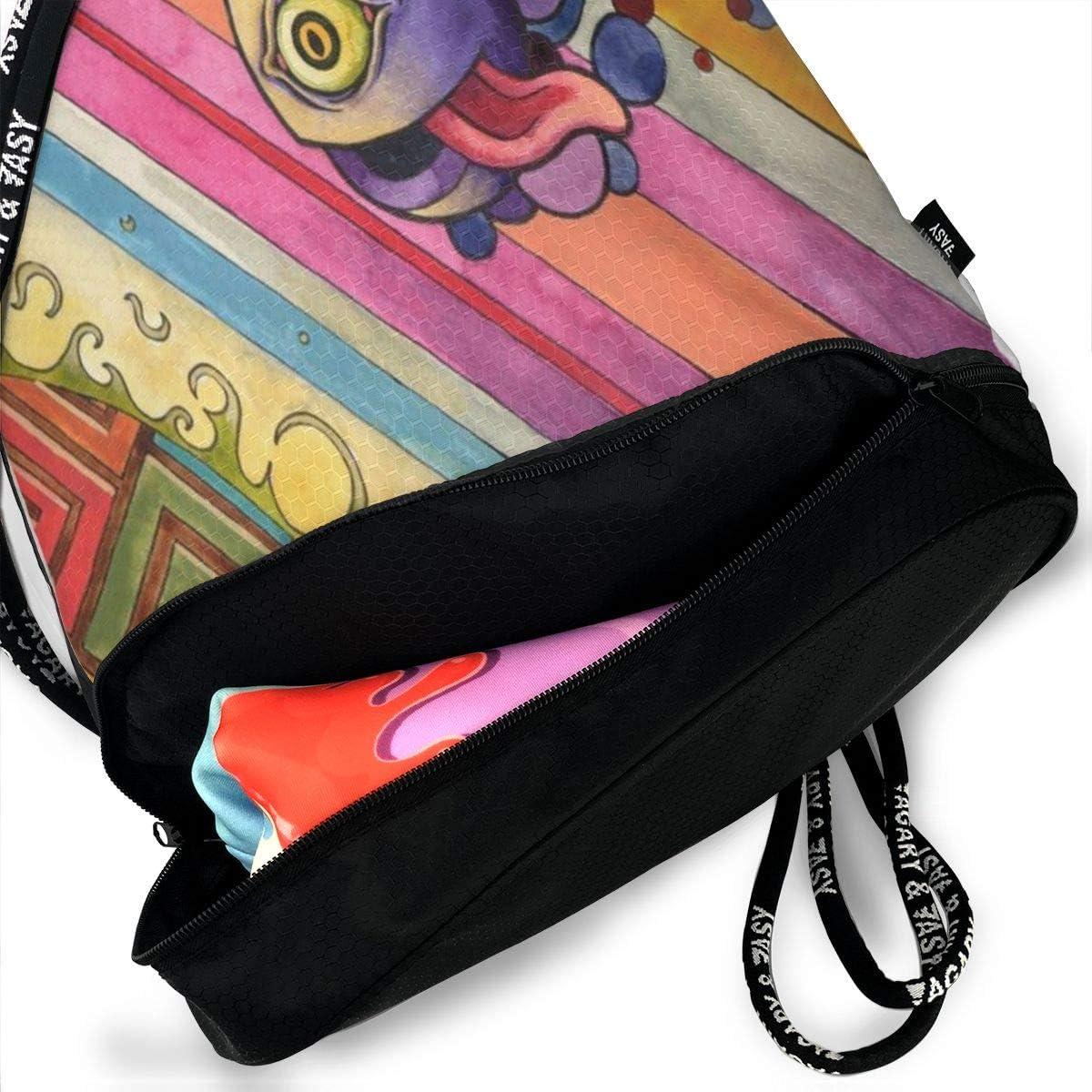 Drawstring Backpack Whimsy Bags Knapsack For Hiking