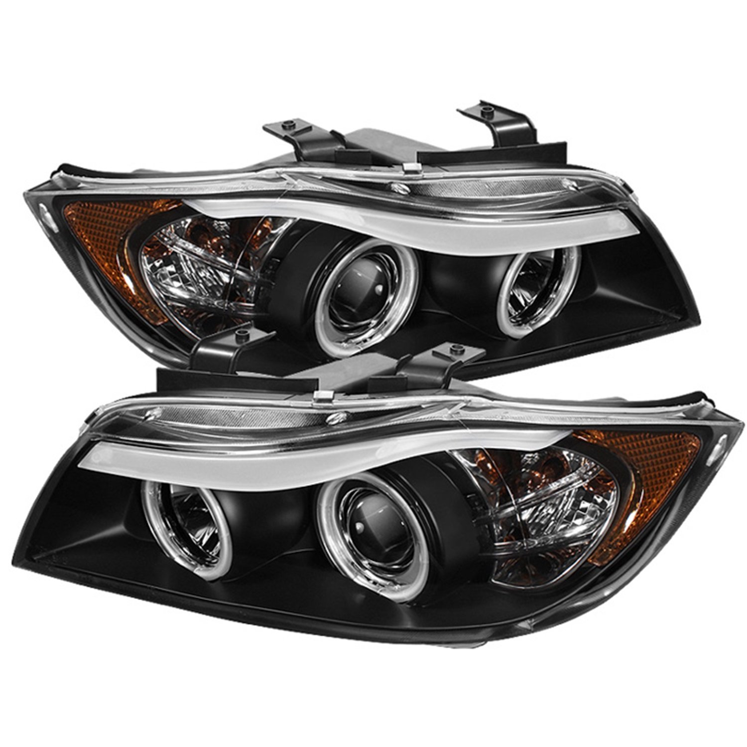 projector bmw signal itm headlights series halo bk dual for hl led loading headlight is black image