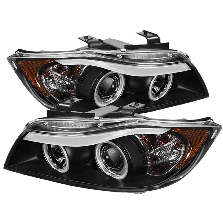 Amazon.com: Spyder Auto BMW E90 3-Series Black Halogen CCFL Amber Projector  Headlight: Automotive