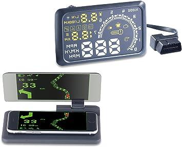 Lescars Autohud Head Up Display Hud 55c Für Elektronik