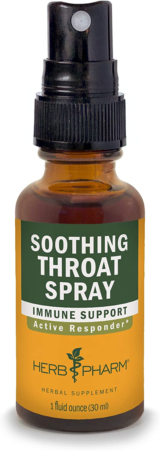 Herb Pharm Soothing Throat Spray Herbal Formula with Echinacea and Propolis - 1 Ounce