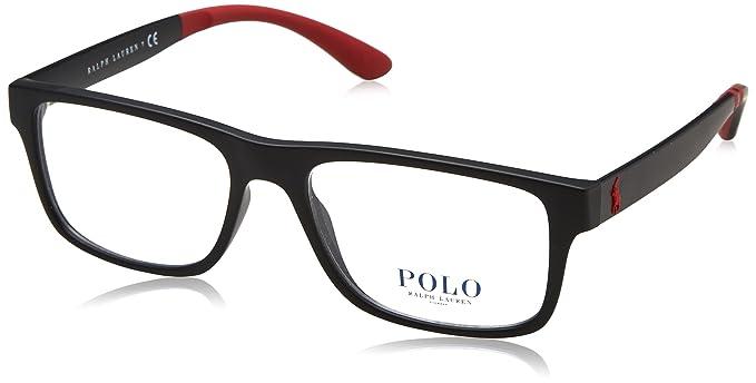 Ralph Lauren POLO 0PH2182 Monturas de gafas, Matte Black, 54 para ...
