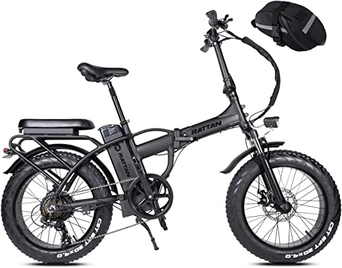 Mukkpet Rattan LM F-750W 20Inch Folding Electric Bike 48V 13AH Removable Lithium Battery I-PAS 7 Speed 32MPH Adult Bicycle 750W Electirc Bicycle