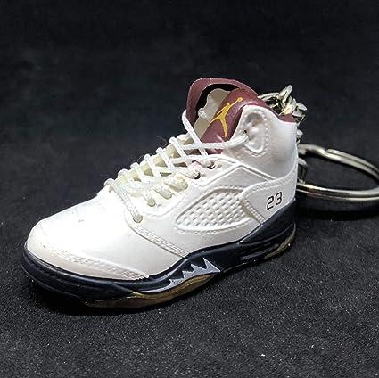 ba899215cfbf5f Amazon.com   Air Jordan V 5 Retro Art Of Defence OG Sneakers Shoes 3D  Keychain Figure   Everything Else