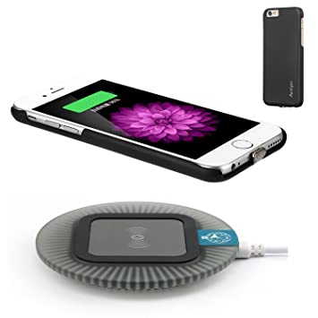 pretty nice 99984 efe62 Antye® Qi Wireless Charger for iPhone 6 Plus / iPhone 6S Plus (5.5  VERSION), Including Wireless Charging Receiver Case With Detachable  Lightning ...
