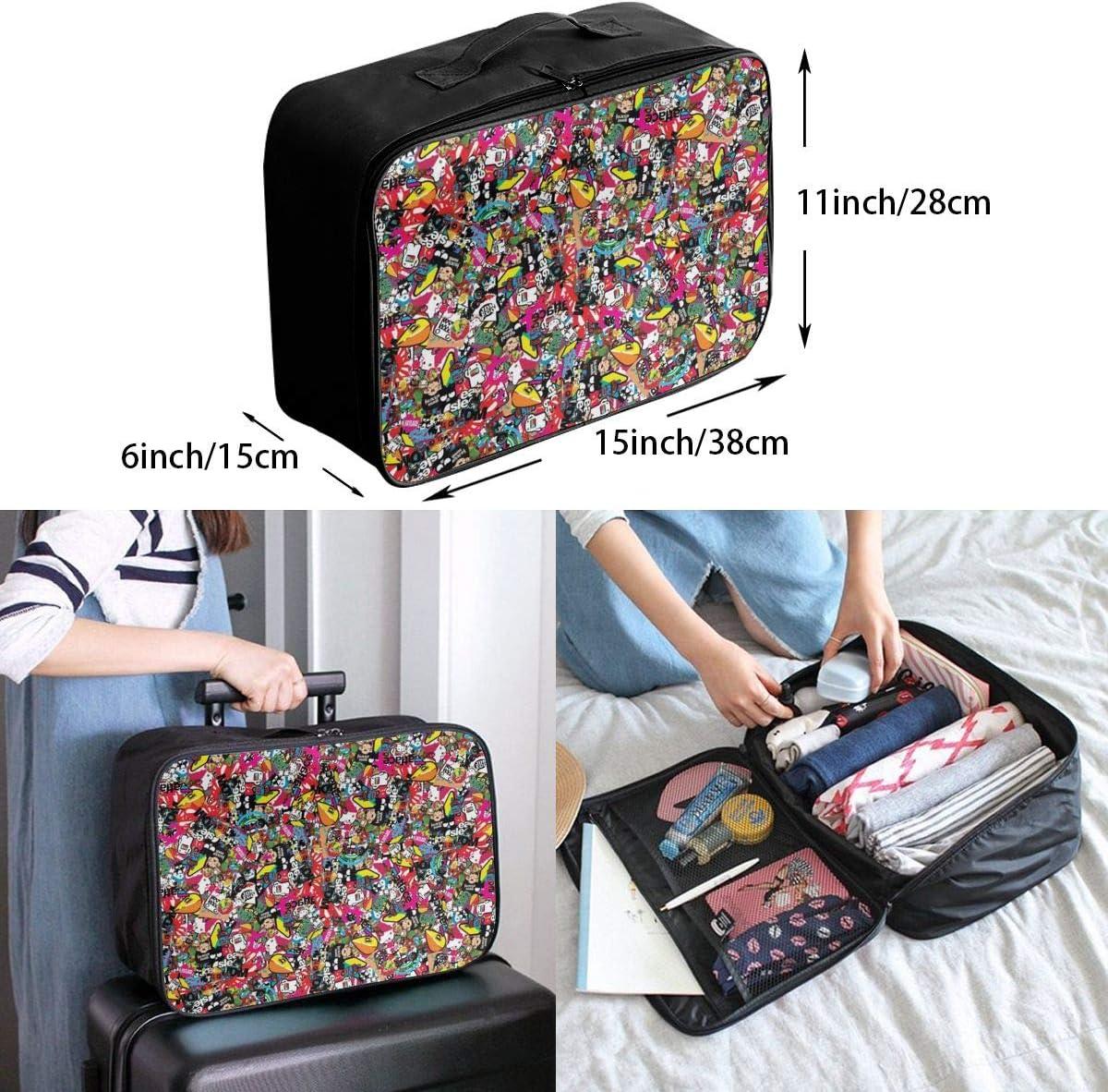 Yunshm Background Style Sticker Texture Wallpaper Customized Trolley Handbag Waterproof Unisex Large Capacity For Business Travel Storage