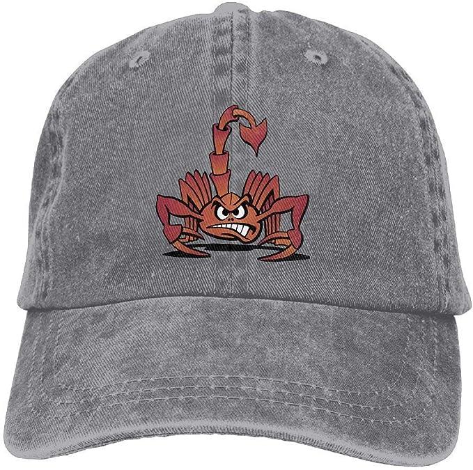 Jiuyuan Scorpion Animal Baseball Cap Men//Women Adjustable Plain Denim Dad Hats