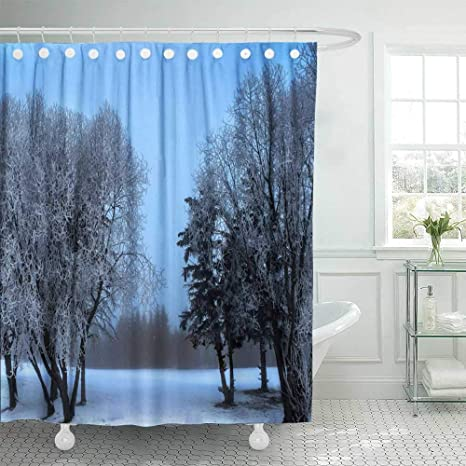 Amazon Com Kioao Christmas Shower Curtain Liner Farmhouse Shower Curtain Liner Fabric Winter In Canada 2017 78x72inch Waterproof Extra Long Merry Christmas Shower Curtains Home Kitchen