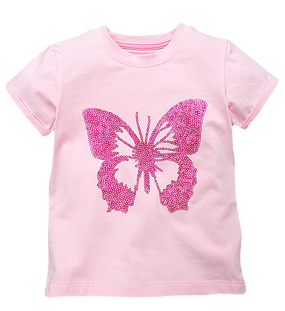 03f2adcaaa9 100% cotton kid t shirt girl for soft. toddler girls t-shirts short  sleeves. t-shirt kids for girl a band on the neck.
