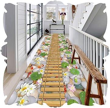 LIXIONG Alfombra Pasillo 3D Alfombra De Entrada Estrecha Alfombras Antideslizantes para Escaleras para Cocina Sala De Niños Fibra Sintética, Lavable Cortable Personalizado: Amazon.es: Hogar