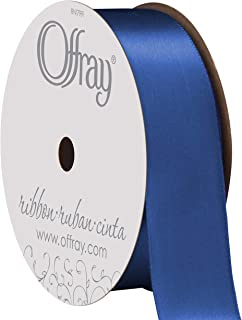 """product image for Berwick Offray 067079 7/8"""" Wide Single Face Satin Ribbon, Royal Blue, 6 Yds"""