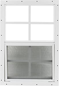 "Shed Window 18"" X 27"" White Flush Mount, Safety/Tempered GLASSStorage Shed, Playhouse"