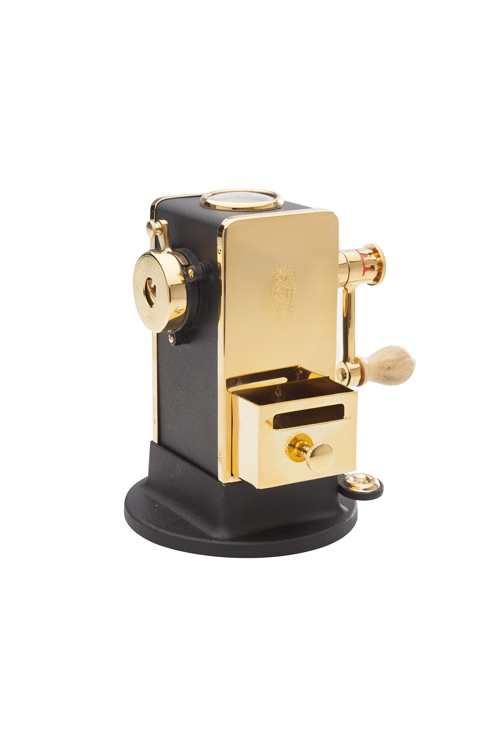 El Casco Black &  23 Kt Gold Plated Pencil Sharpener With Base / Side Load M-430LN
