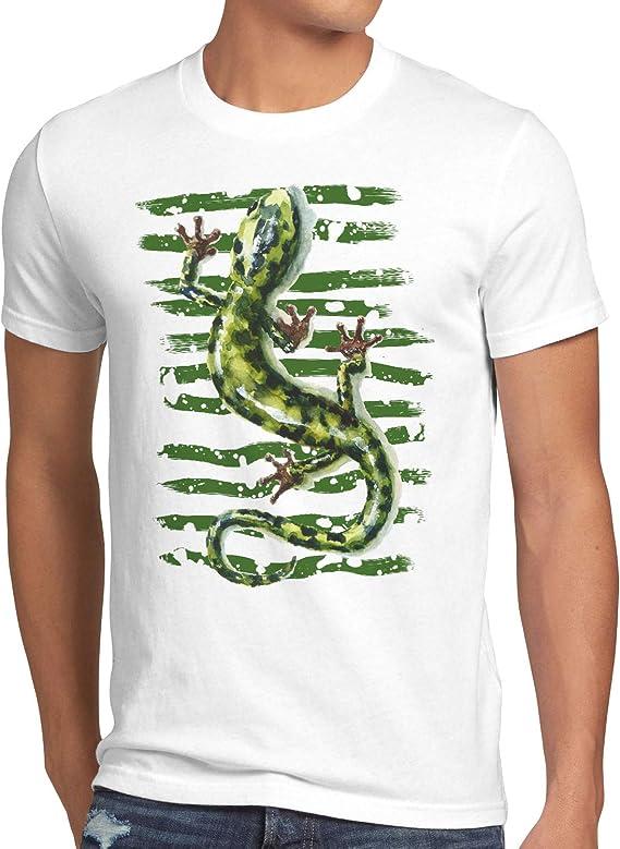 style3 Salamandra Camiseta para Hombre T-Shirt Lagarto Reptil mar mediterráneo