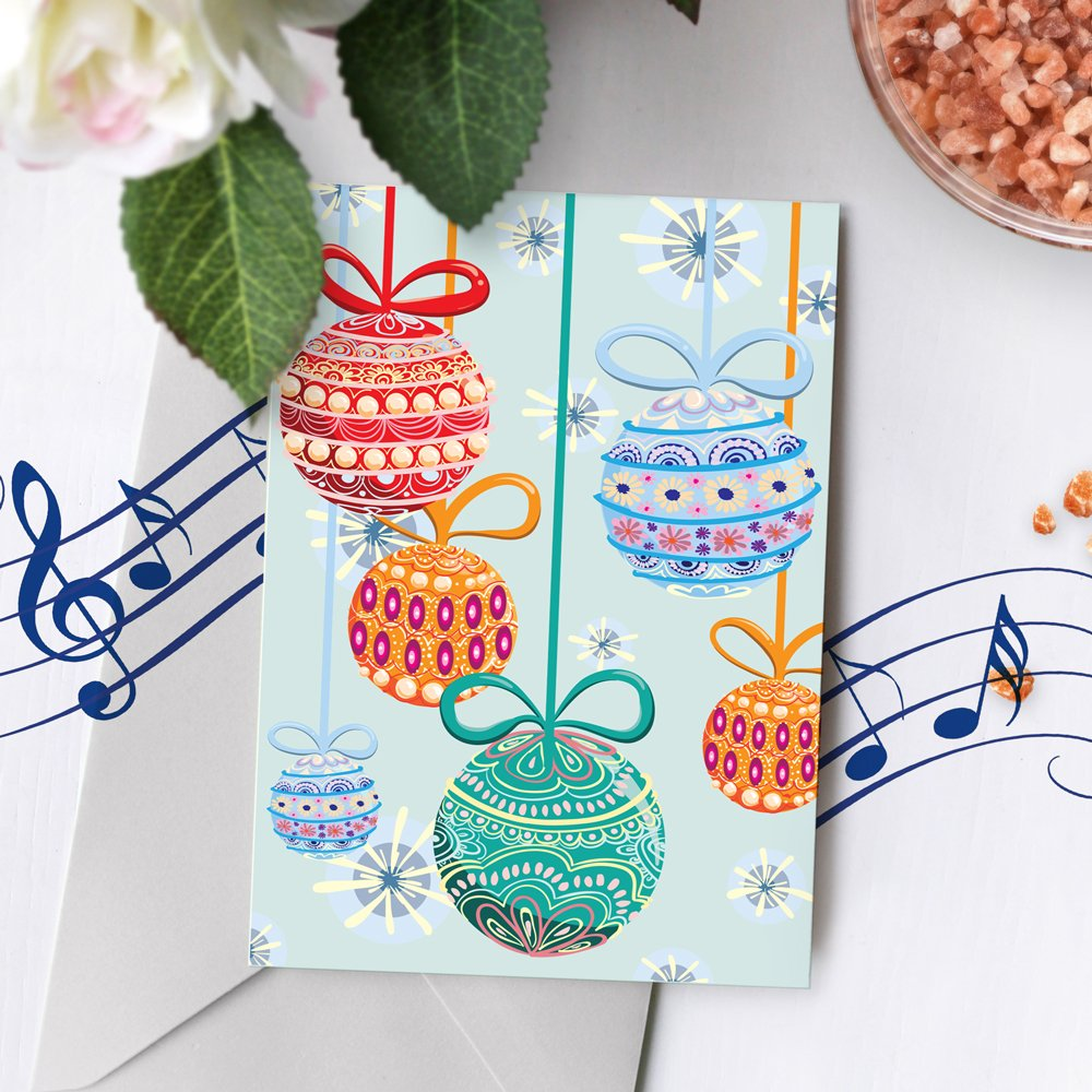 Singing Christmas Card | Christmas Card With Ornament Design ...