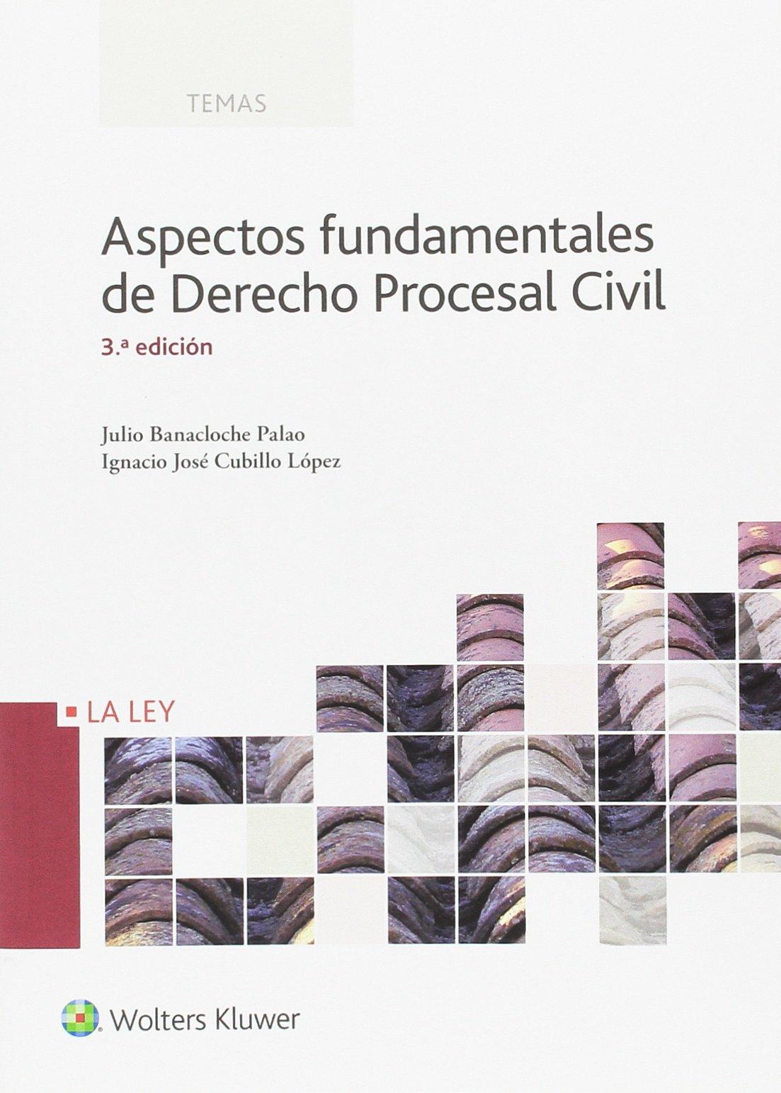 Aspectos fundamentales de Derecho Procesal Civil (3ª ed.- 2016) (Temas La Ley) Tapa blanda – 21 mar 2016 Ignacio José Cubillo López 8490204888 Spain Civil procedure