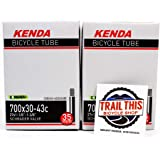 """Trail This 2 Pack K E N D A 700 x 30/43 (27 x 1-1/8"""" - 1-3/8"""") Gravel Bicycle Tubes"""