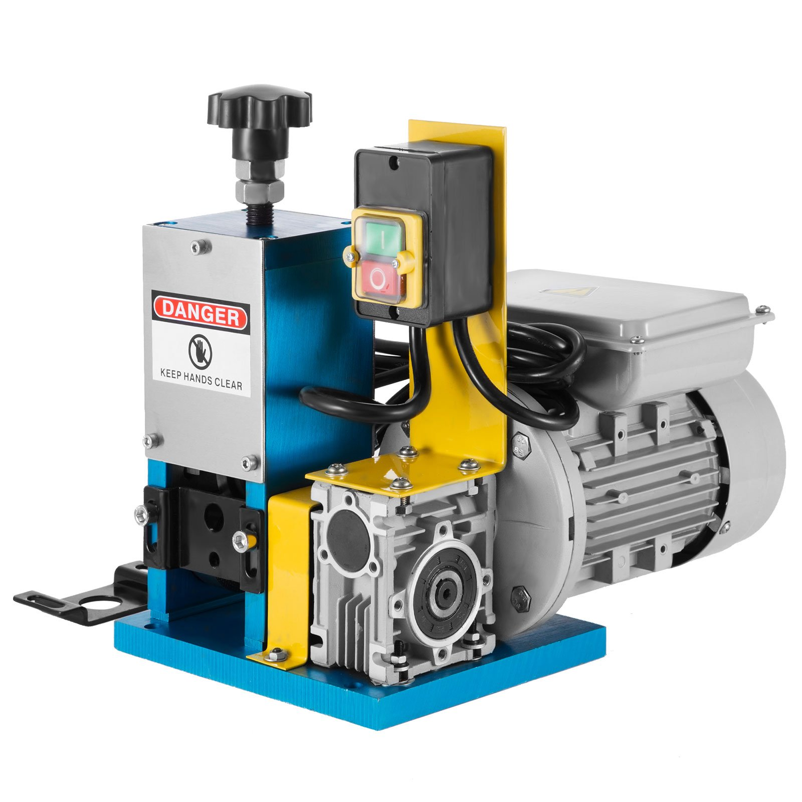 Happybuy Cable Wire Stripping Machine Φ1.5mm~Φ25mm Wire Stripping Machine 1 Channels Wire Stripping Machine Tool Manual Hand Cranked Industrial Wire Stripping Recycle (Blue)