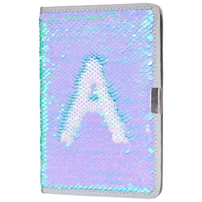 MHJY Sequin Notebook Magic Reversible Sequin Journal for Girls Color Change Diary Flip Sequin Notebook Sparkly Mermaid Gift (Magic Pale-Blue): Toys & Games
