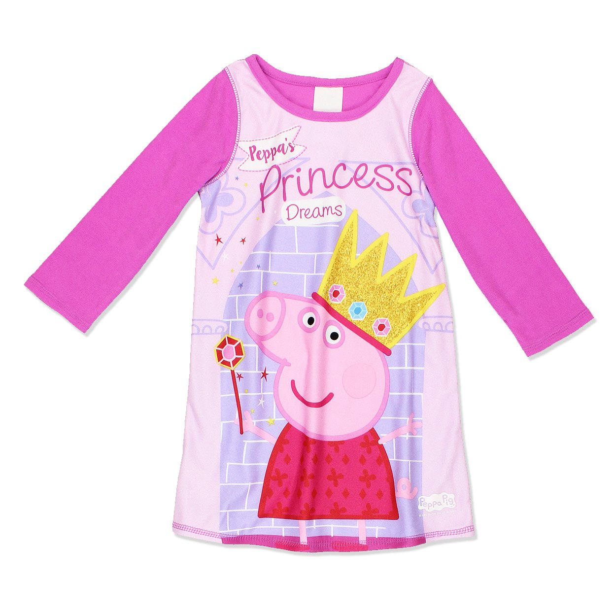 Peppa Pig Girls Reversible Dorm Nightgown Pajamas (Toddler)